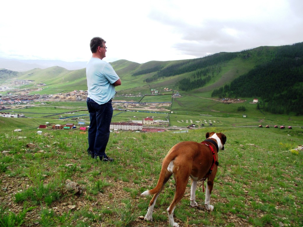 Denis and the view in Mongolia