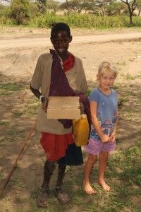 Audrey with  a Maasai Child
