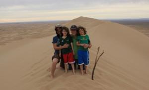 Michelle's family in Mongolia Khongoryn Els sand dunes