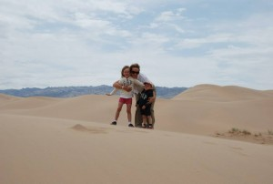 Carolyn, Amy and George in The Gobi