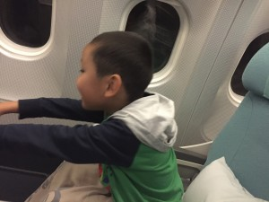 "DJ on a plane when we finally left Mongolia, as the plane took off he put his arms out and sang ""I believe I can fly, I believe I can touch the sky"". Made me cry!"